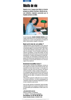 Récit de vie - infograff - septembre 2004